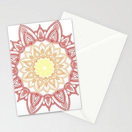 Warm Mandala Stationery Cards