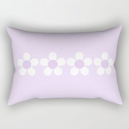 Spring Daisies - Geometric Design in Lilac Purple & White Rectangular Pillow