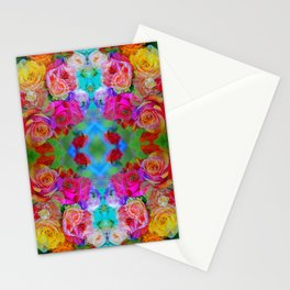 flowers from farmers market with mom Stationery Cards