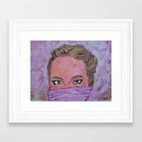 sister Framed Art Prints featuring sister by Elide G