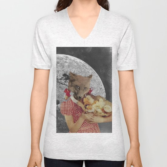 Counting chickens Unisex V-Neck