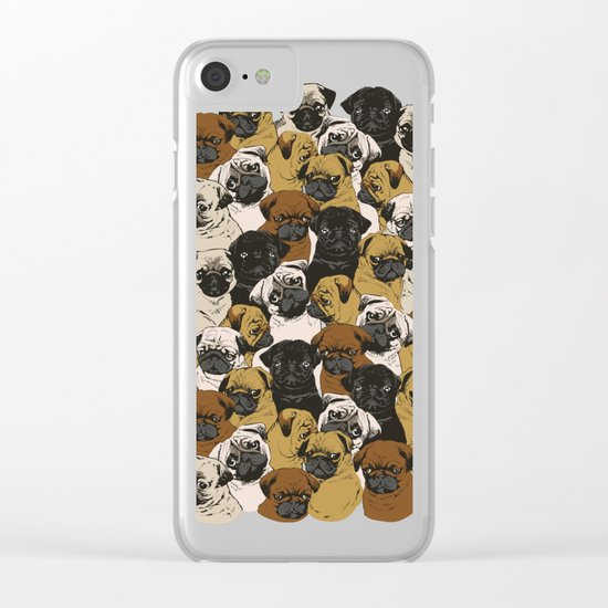 Social Pugz Clear iPhone Case
