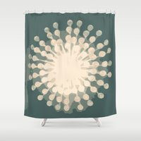 chandelier Shower Curtains featuring The Chandelier  by maribeldesigns