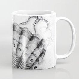 Dystopian Cockle - Black & White Coffee Mug