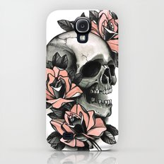 Skull and roses - tattoo Galaxy S4 Slim Case