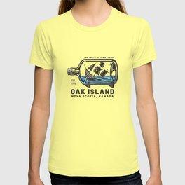 Oak Island Swamp Sinking Ship Templar Knights Treasure T-shirt