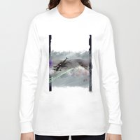 70s Long Sleeve T-shirts featuring T-70s Under Attack by Neil A Brady