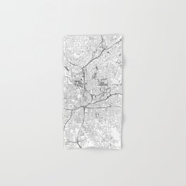 Atlanta White Map Hand & Bath Towel