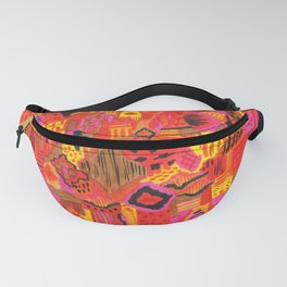 Boho Patchwork in Warm Tones Fanny Pack