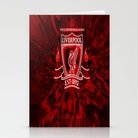 liverpool Stationery Cards featuring LIVERPOOL LOVER by Acus