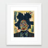basquiat Framed Art Prints featuring BASQUIAT by Blaz Rojs