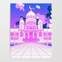 The Moon Kingdom - Sailor Moon Crystal (Nostalgic Anime Dreamscape) Poster
