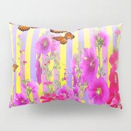 MONARCH BUTTERFLIES  PINK & LILAC GARDEN ABSTRACT Pillow Sham