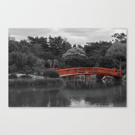 The Red Bridge (Higher Contrast) Canvas Print