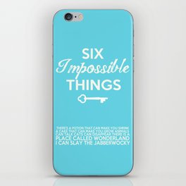 Impossible Things iPhone Skin