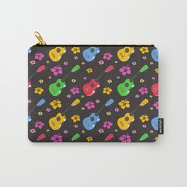 Ukulele and Flowers Pattern Carry-All Pouch