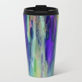 The Cavern in Shades of Purple and Green Travel Mug