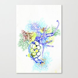 From Simplicity 2 Complexity series - Neural Network Canvas Print