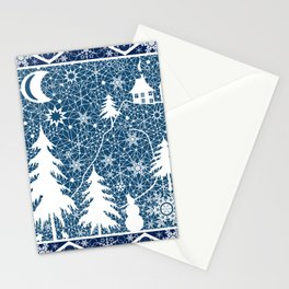 New year's design. Lace fabric . Stationery Cards