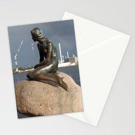 the little mermaid copenhagen 3 Stationery Cards