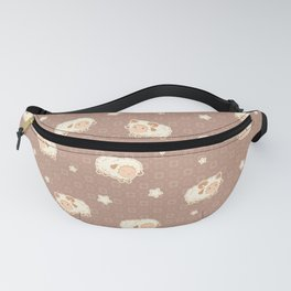Cute Little Sheep on Brown Fanny Pack