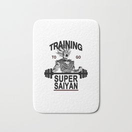 training to go super saiyan Bath Mat