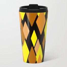Black and yellow abstract pattern. Diamonds . Travel Mug
