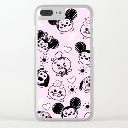 Scribble Tsums Clear iPhone Case