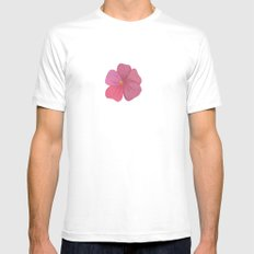 Busy Lizzy MEDIUM White Mens Fitted Tee
