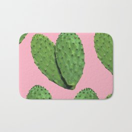 Cactus on pink backround #society6 Bath Mat