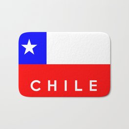 Chile country flag name text Bath Mat