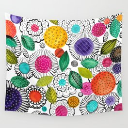 Floral Fun Wall Tapestry
