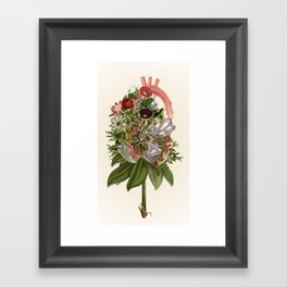 Heart In Bloom - anatomical collage art by bedelgeuse Framed Art Print