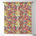 Neon Sour Gummy Worms Photo Pattern by patternssoup
