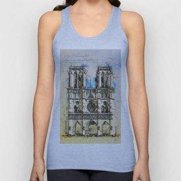 Notre Dame Cathedral, Paris Unisex Tank Top