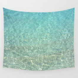Colors of the Sea Water - Clear Turquoise Wall Tapestry