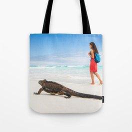 Galapagos wildlife beach Tote Bag