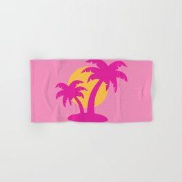 Pink Sunset Palm Tree Hand & Bath Towel