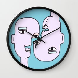 Abstract Together Wall Clock