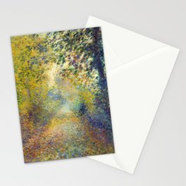 """Auguste Renoir  """"In the Woods"""" Stationery Cards"""