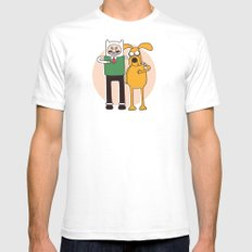 A Grand Adventure White Mens Fitted Tee SMALL