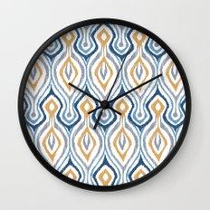 Sketchy Ikat - Saddle Wall Clock
