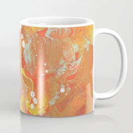 Orange Galaxy Fire Coffee Mug