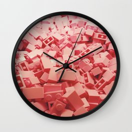 Pink LEGO's Wall Clock