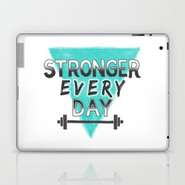 Stronger Every Day (barbell) Laptop & iPad Skin