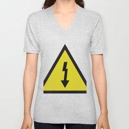 electric current danger signal Unisex V-Neck