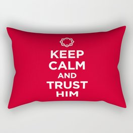 Keep Calm & Trust Him Rectangular Pillow