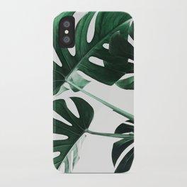 Monstera, Leaves, Plant, Green, Scandinavian, Minimal, Modern, Wall art iPhone Case