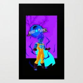 SUPER VEGETA / DAILY PLANET Art Print