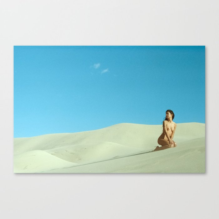 in the still sands of leave Canvas Print